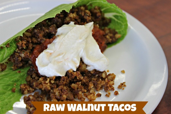 raw walnut tacos
