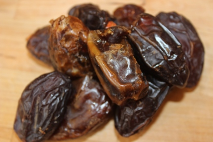 Medjool dates. These are used to naturally sweeten foods and act like caramel in most of my sweet recipes!