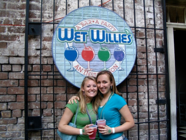 My friend Lindsay and I in Savannah for St. Patty's Day circa 2006