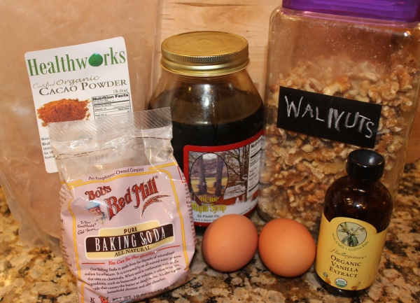 Prepping all of the ingredients for these yummy chocolatey brownies!
