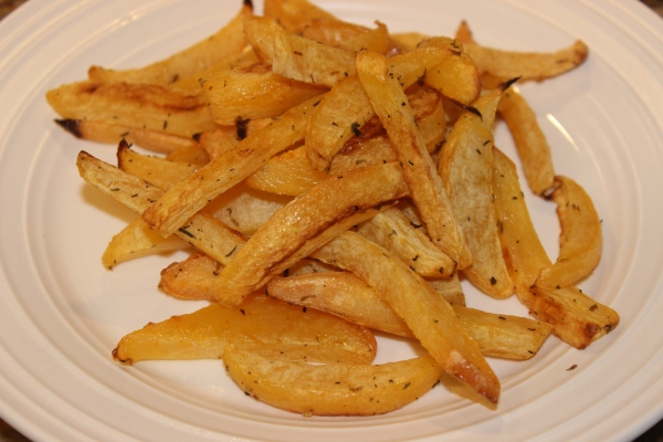 Yummy herbed rutabaga fries!