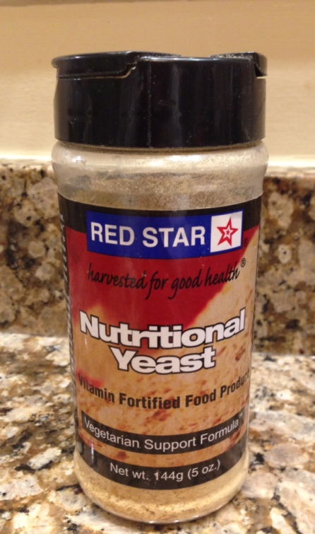 Nutritional yeast! I bought this kind at Wegmans, but you can also get it at Whole Foods, MOMs, or online