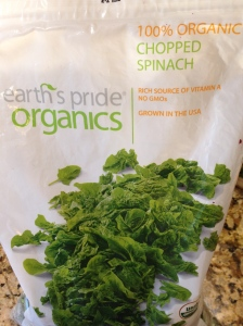 Big bag of frozen spinach perfect for smoothies from BJs!