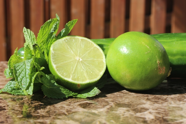 Mmm, fresh mint, limes, and seedless cucumber