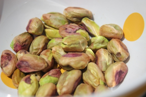 The addition of crunchy, roasted pistachios adds another texture to this dish