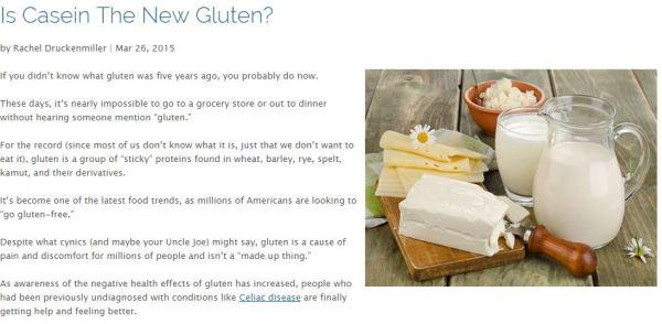 Casein Gluten