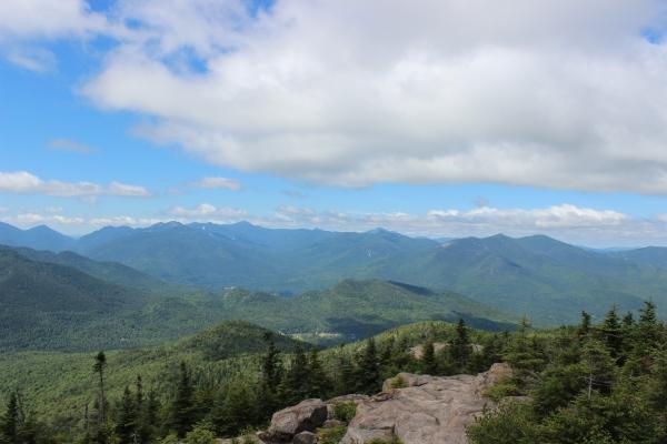 A beautiful view from an Adirondack mountaintop