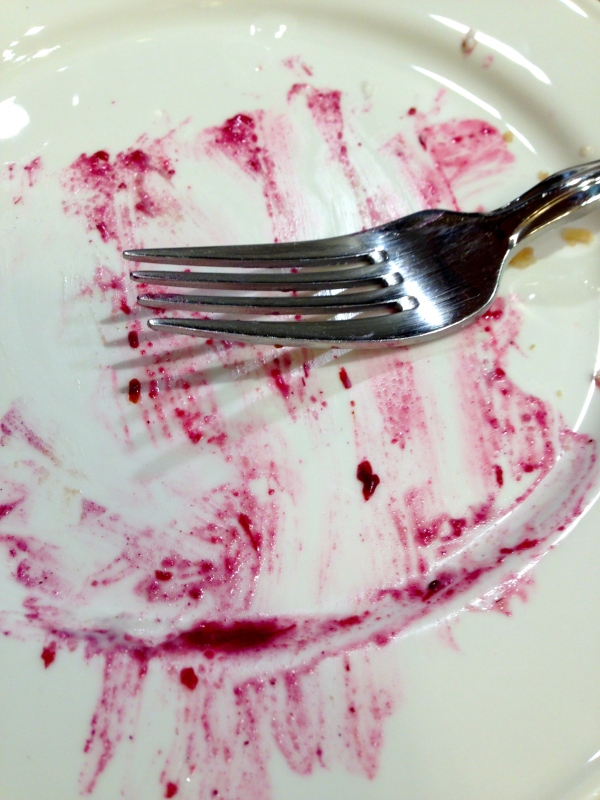 You saw the pretty plate before...here's the plate after :)
