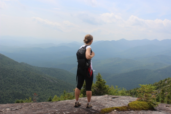 Overlooking the Adirondack Mountains on a recent hike in Lake Placid, New York