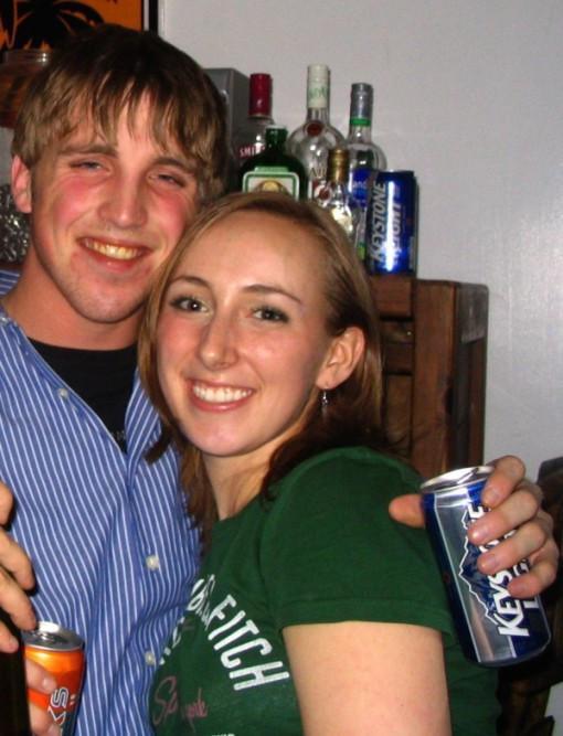 "College days...almost 9 years ago with my then ""crush"" and now husband! Pictures from college can be pretty humbling!"