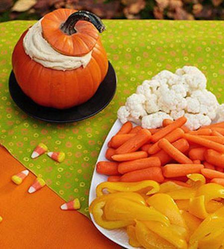 Candy Corn Veggie Platter