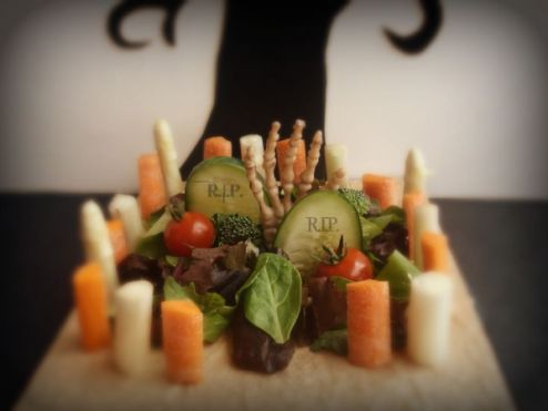 Halloween Graveyard Salad