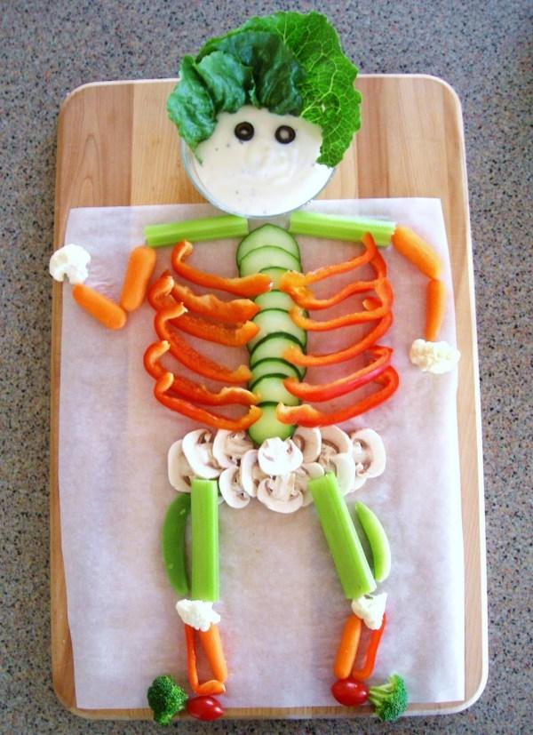 Halloween Veggie Skeleton
