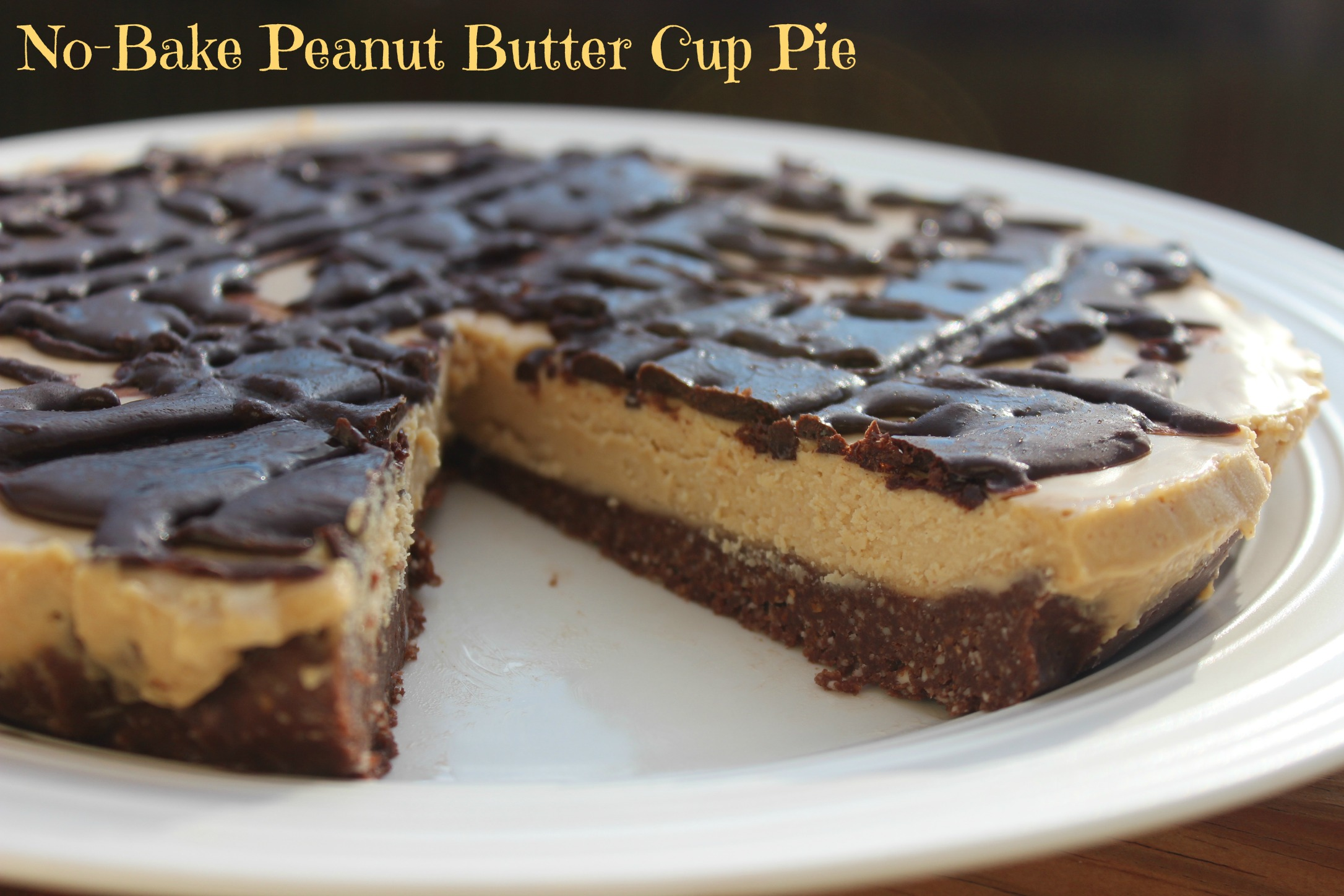 ... with This No-Bake Peanut Butter Cup Pie {Vegan, Gluten-Free