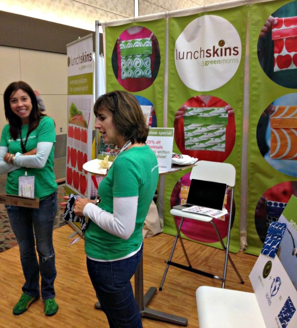 Sneaking a pic of the 3 green moms at the expo!
