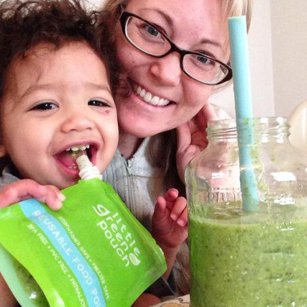 "My friend Lindsay sharing a fun, smiling picture on Facebook along with this kind comment! ""Yummy Caribbean Island breeze smoothie for breakfast. Thank you Rachel Druckenmiller for the recipe! We loved it! I highly recommend."""