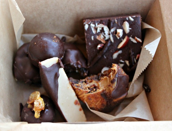 A box of melt in your mouth chocolate from Jinji