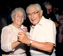 Great Grandma and Great Grandpa dancing