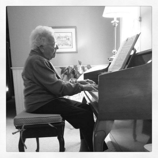 Great Grandma played the piano well into her 100s
