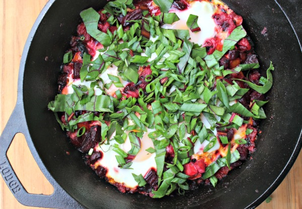 Beet Shakshuka Recipe from Two Moms in the Raw cookbook