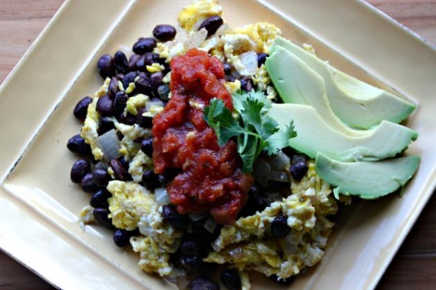 Mexican Black Bean Scramble