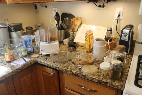 And this is what my kitchen looked like afterwards...:o)
